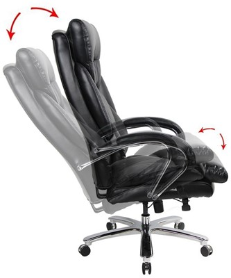 VIVA OFFICE 350lbs Capacity PU Leather Office Chair - best office chair for tall person