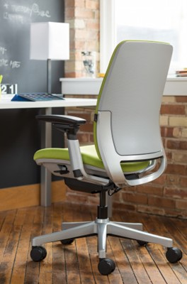 Steelcase Amia Fabric Stool - best office chair for short heavy person
