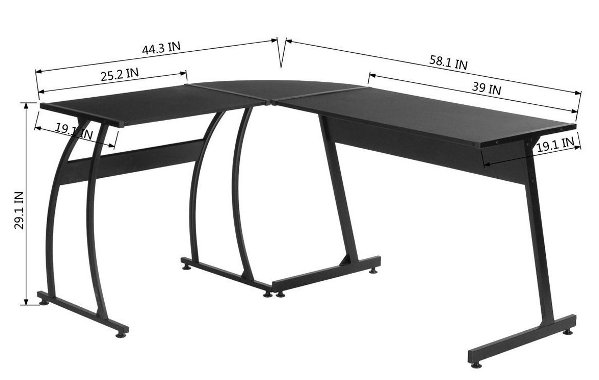 Green Forest L-Shape Corner Computer Best Gaming Desk Review Amazon