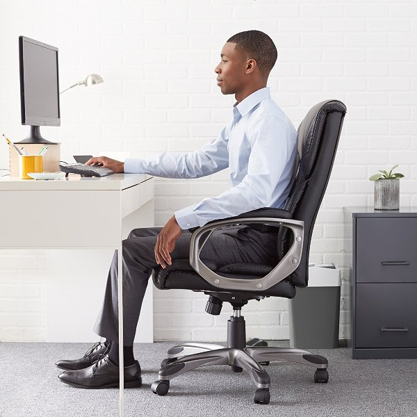 AmazonBasics High Back Executive Chair-Top 10 Best Office Chairs Reviews for Tall People Amazon
