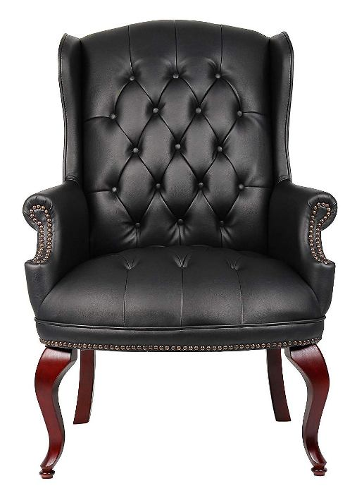 Boss Office Products B809-BK Wingback Traditional -Top 10 Best Visitor Chair Reviews