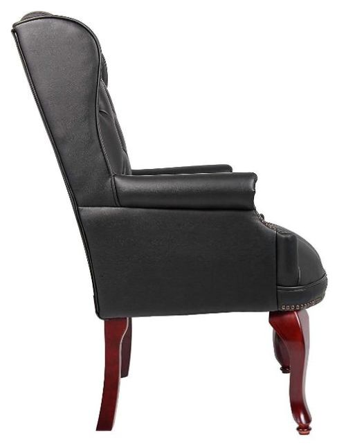 Boss Office Products B809-BK Wingback Traditional -Top Best Visitor Chair Reviews