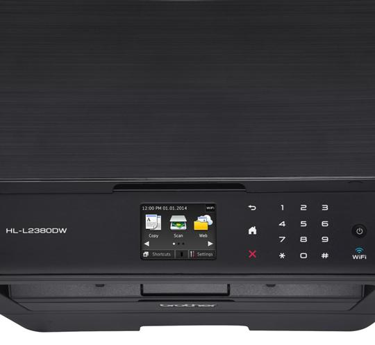 Brother HL-L2380DW Wireless Monochrome Laser Printer Review-Control Panel