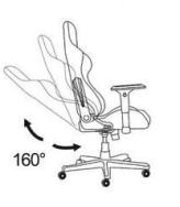 fauteuil gamer dossier inclinaison