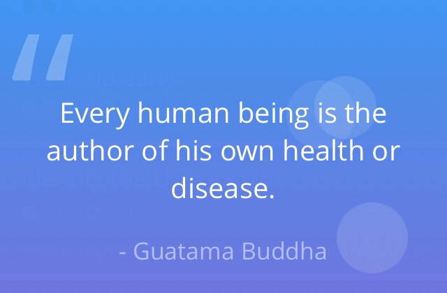 Every human being is the author of his own health or disease.