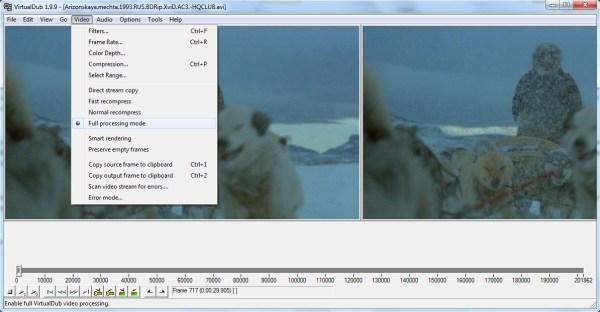 Программа для сжатия видео VirtualDub
