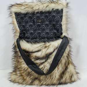 Fox [Tan] K9 Bag by Chaka Khan [Large] Flap Open View