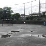 雨上がりの多目的広場