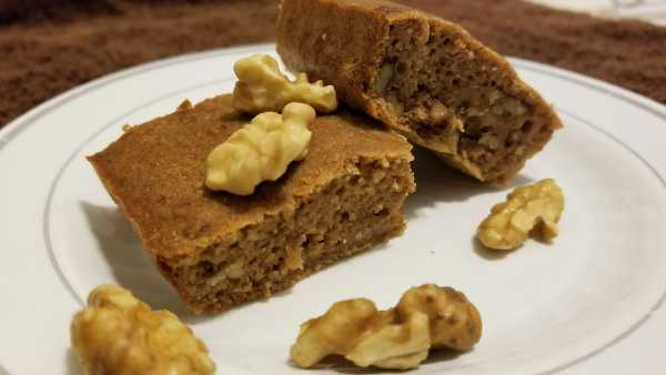 Eggless Whole Wheat Banana Walnut Cake Recipe | No Sugar ...