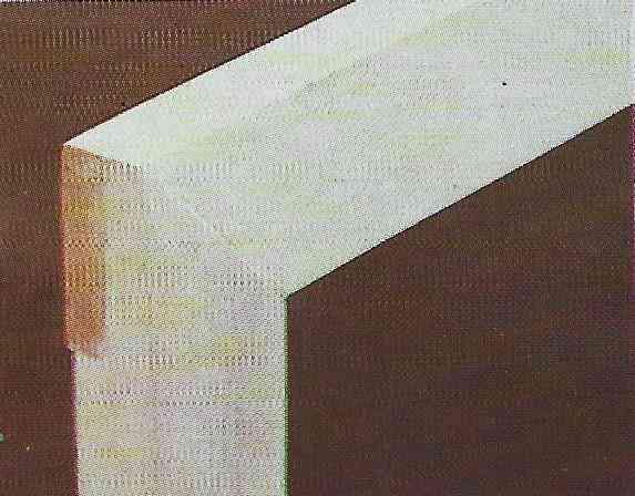 foto ilustrativa de uma junta em meia-madeira em formato de meia-esquadria
