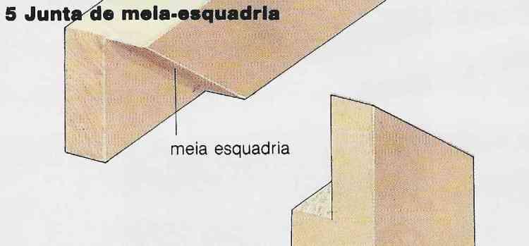 Foto ilustrativa do passo-a-passo para construir uma junta em meia-madeira em meia-esquadria