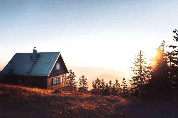 cabana de madeira