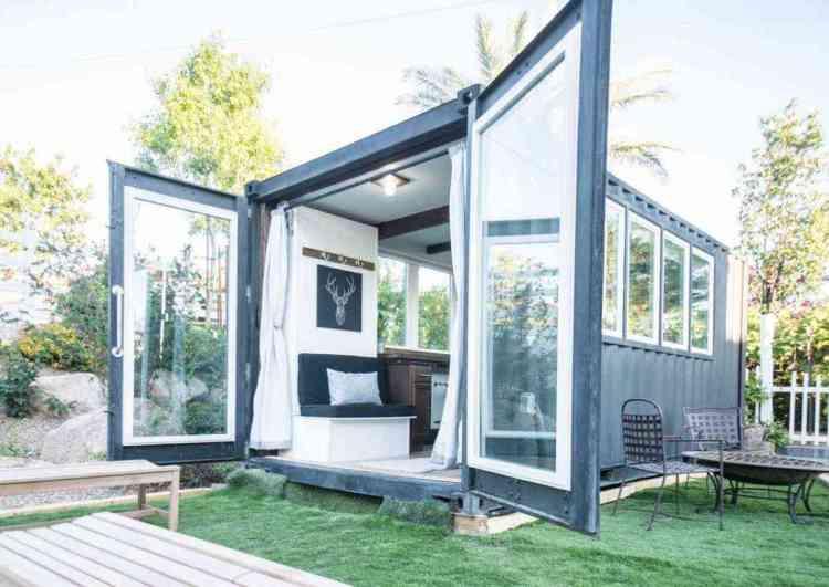 casa pré-moldada em container modular