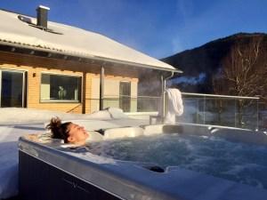 Jaccuzzi ou Whirlpool en hiver