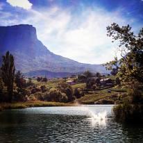 Lac Saint André (Les Marches) avec Le Granier