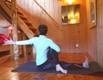 Mat de yoga à votre disposition pour faire les étirements.