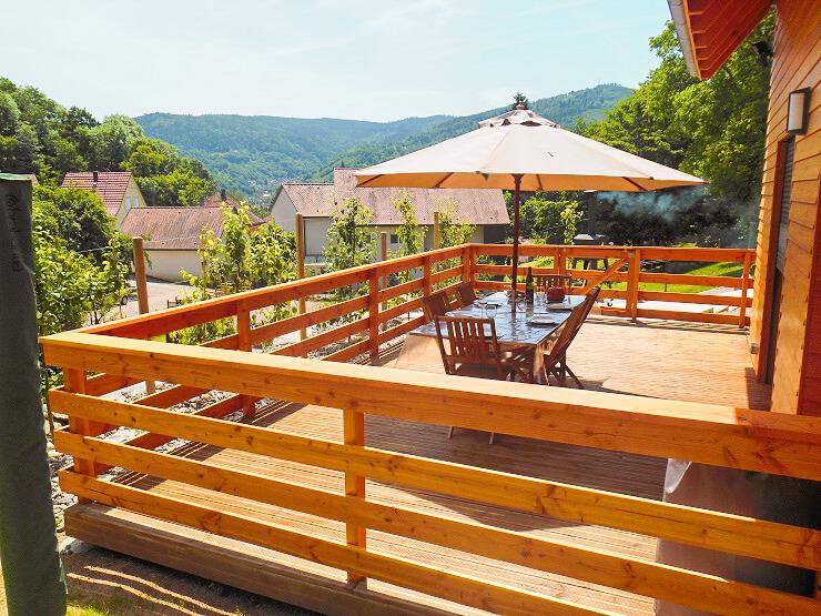 Chalet Chamois 4* à Munster en Alsace tout confort jardin et terrasse