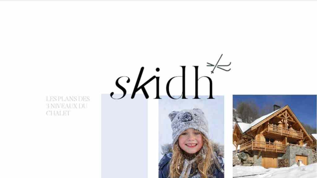 chalet Skidh - image plans du chalet