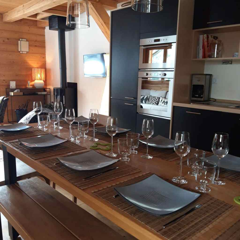 chalet Skidh . coin repas