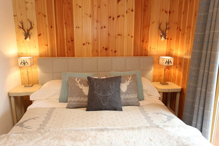 Modern chalet style bedrooms