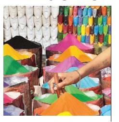 color for rangoli