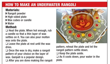 how to make an underwater rangoli