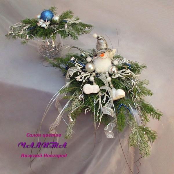 Украшение стола «Снеговик» - заказать с доставкой в салоне ...