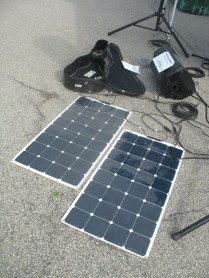 two 100-watt solar panels