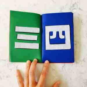 DIY Tactile Numbers Book