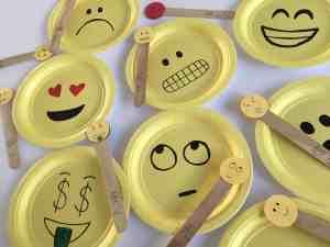 Bilingual Paper Plate Emojis