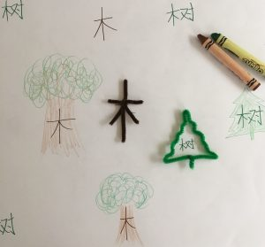 Chinese Nature Words with Pipe Cleaners