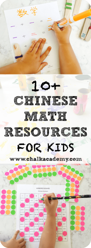10 Math Resources For Children Learning Chinese Chalk