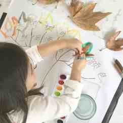 Autumn Leaf Painting & Chinese Literacy
