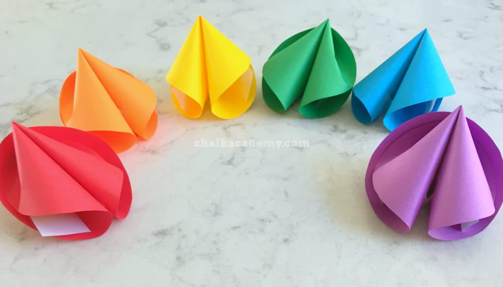 How to make the perfect rainbow paper fortune cookie