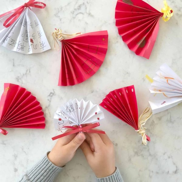 DIY Chinese folding fans craft from CHALK Academy