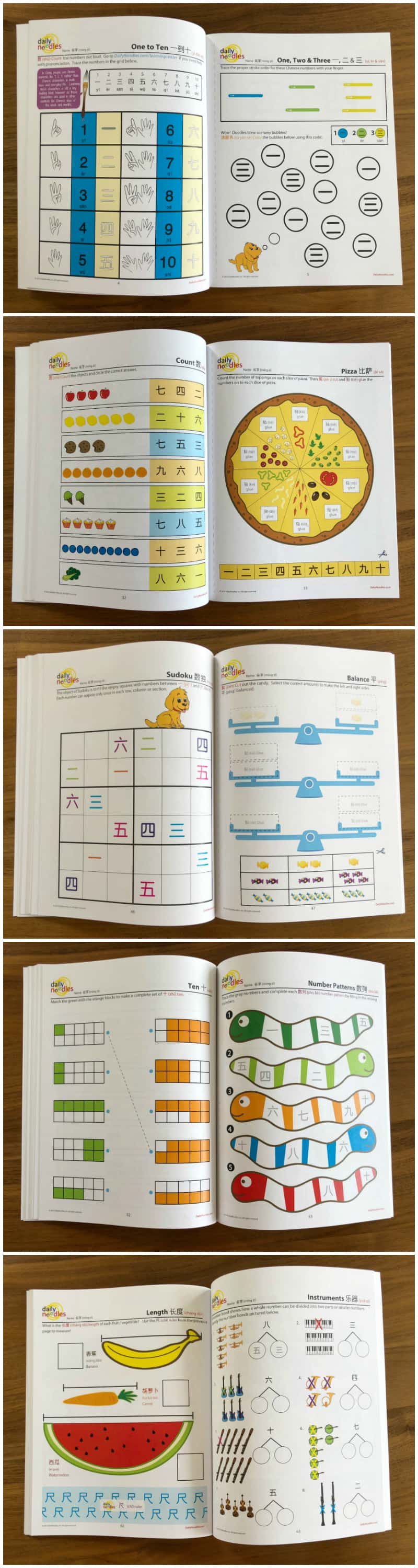 Daily Noodles Chinese Numbers Activity Book