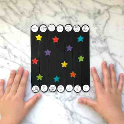 Twinkle Twinkle Little Star Craft Stick Puzzles in Chinese!