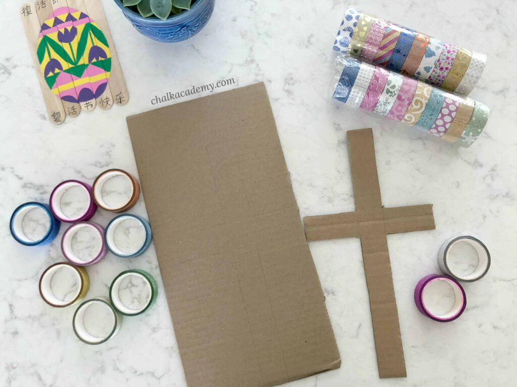 Washi Tape Cross - Easter Activity
