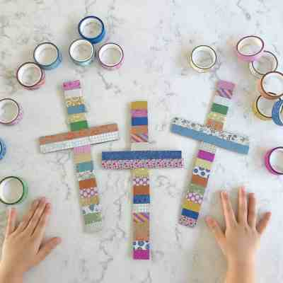 Washi Tape Cross Craft – A Beautiful Easter Activity