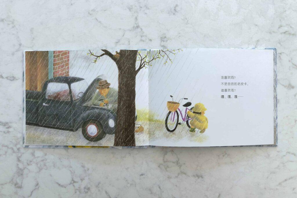 谁喜欢雨? Chinese children's book about rain