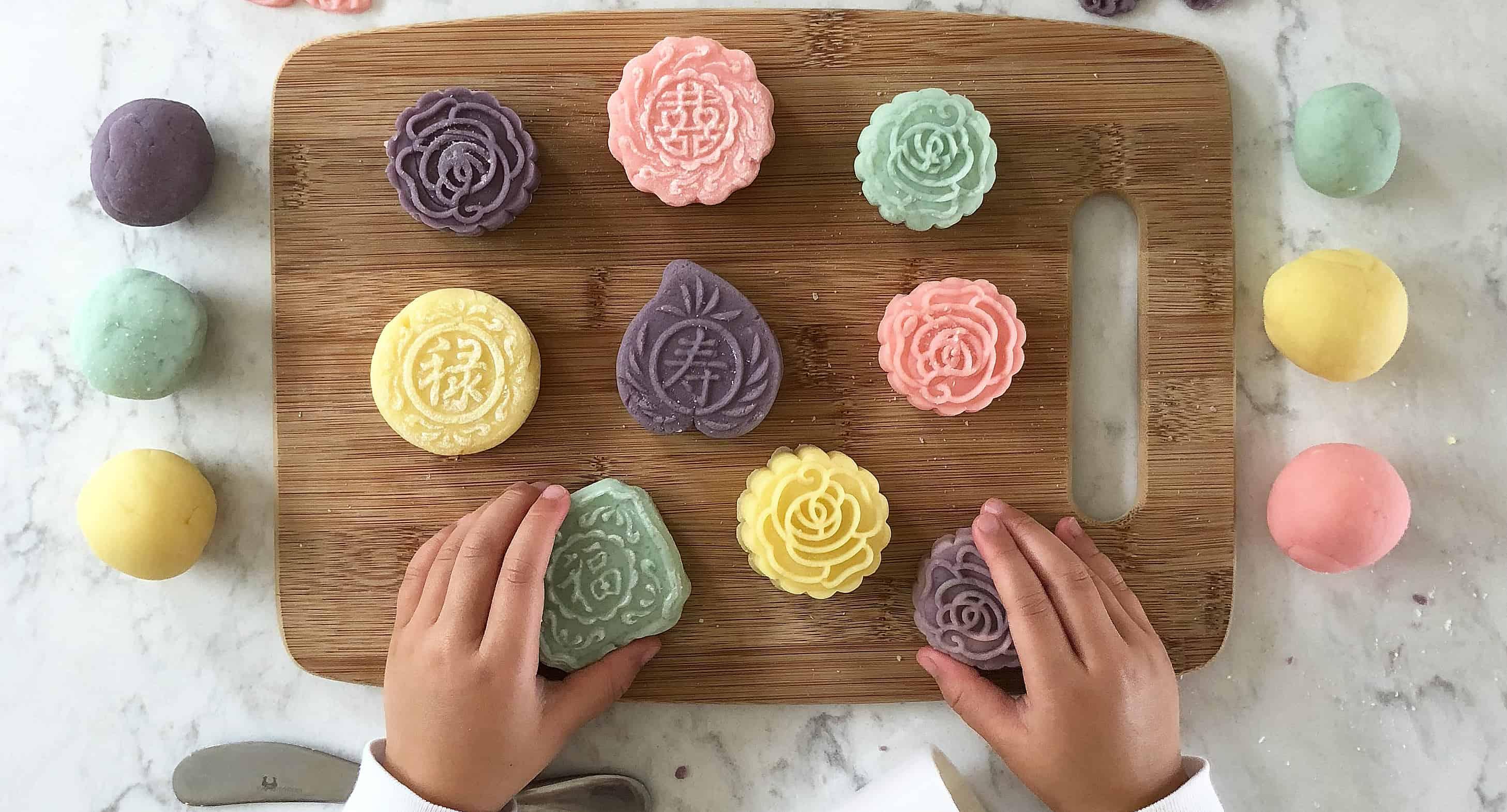Playdough Mooncakes