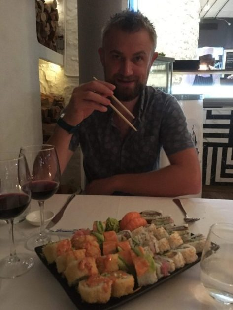 Sushi at the Harbour House restaurant