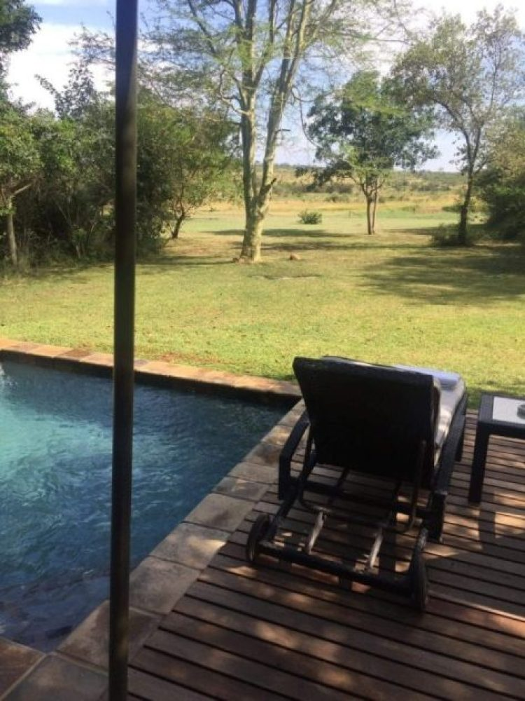 The view out of our room at Savanna Private Game Reserve