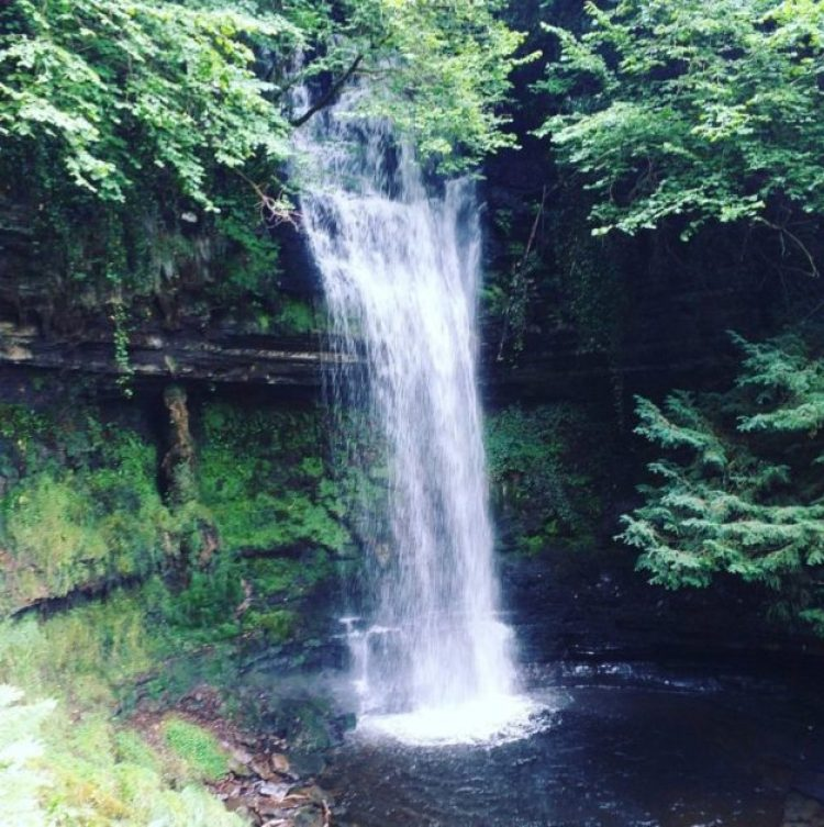 Glencar waterfall in Glencar Lough