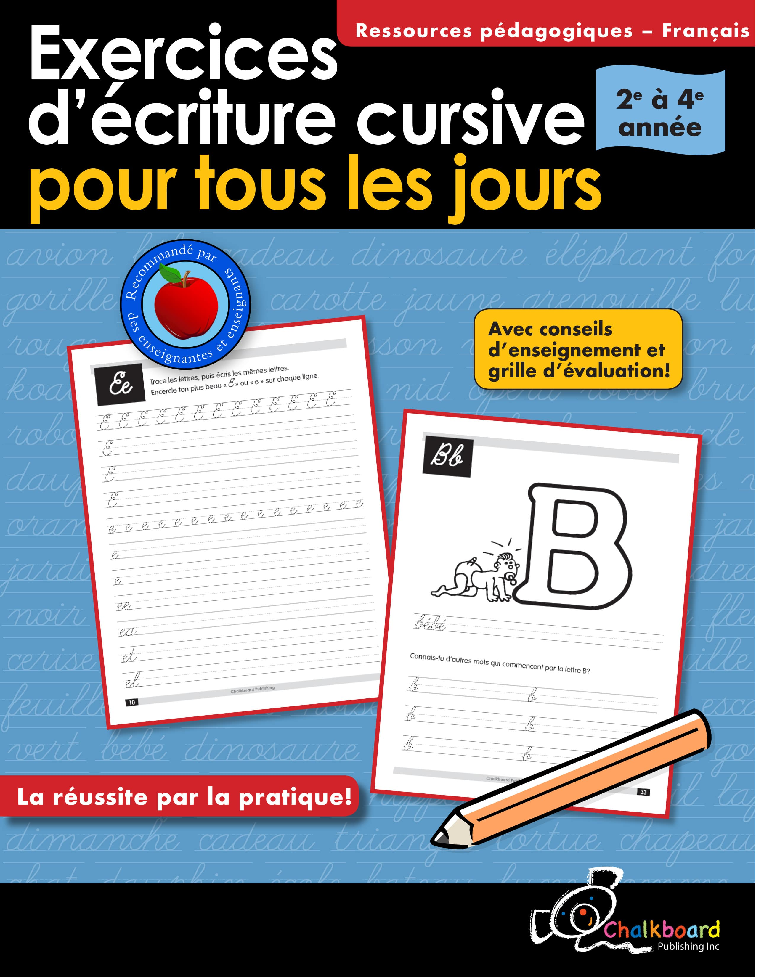 Canadian French Daily Cursive Writing Practice Grades 2 4