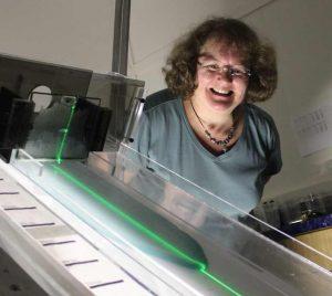 Andrea Bertozzi and a machine