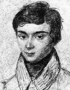 A portrait of the mathematician, Évariste Galois