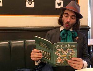 Cédric enjoying a popular maths magazine