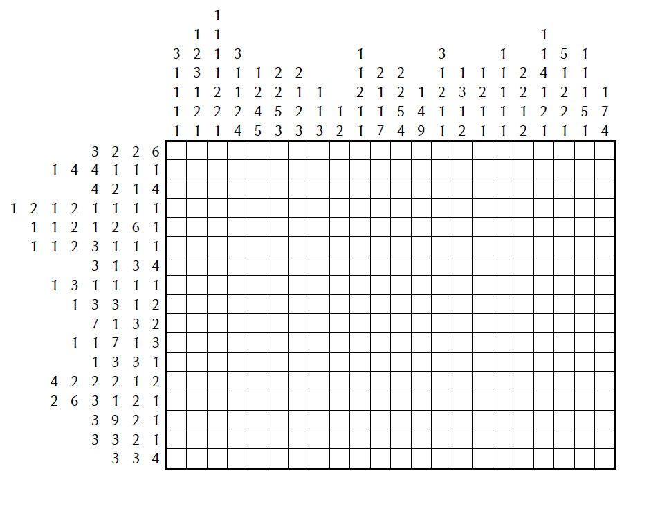 Fabulous image in printable nonograms