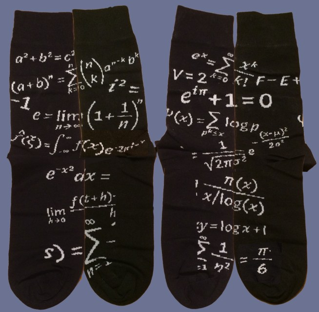 Mathematical socks, laid out
